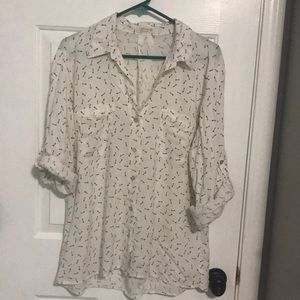 Long/rolled up sleeve blouse with keys